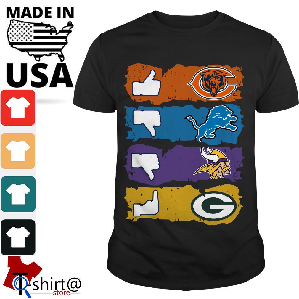 Chicago Bears Minnesota Vikings Detroit Lions and Green Bay Packers shirt