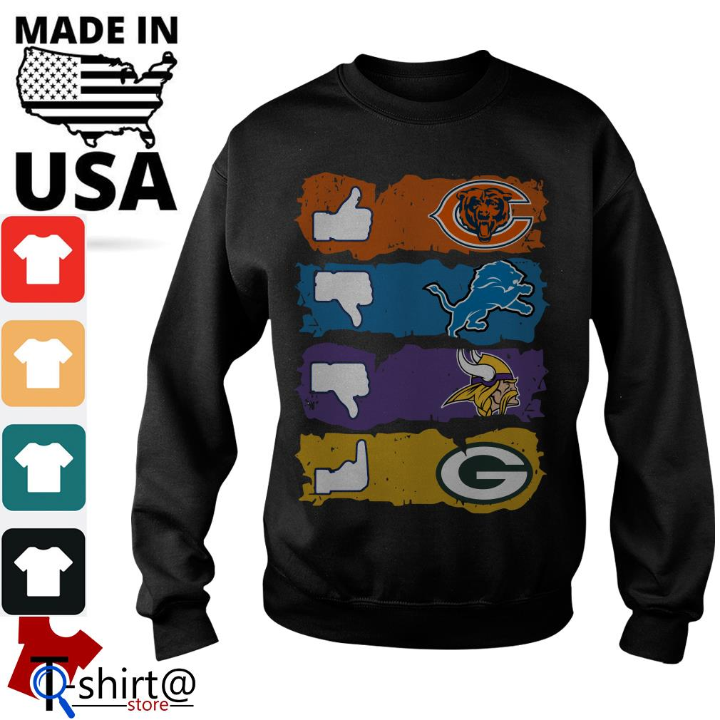 Chicago Bears Minnesota Vikings Detroit Lions and Green Bay Packers Sweater