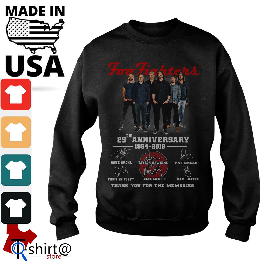 Foo Fighters 25th anniversary 1994-2019 thank you for the memories Sweater
