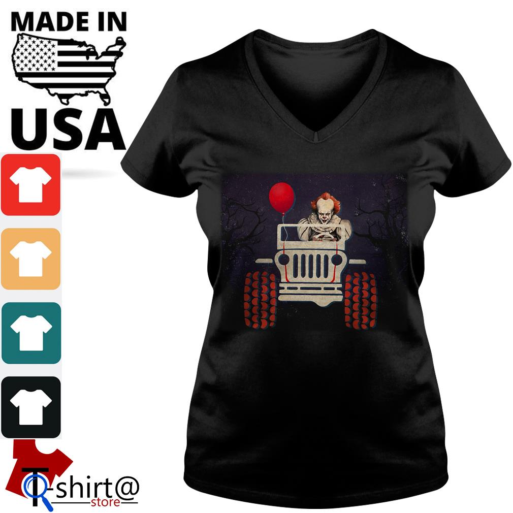 Halloween Jeep IT Pennywise Ladies tee
