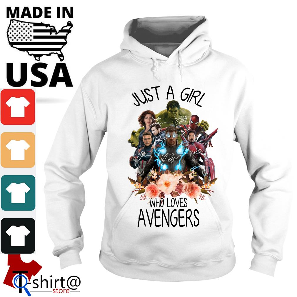 Just A Girl Who Loves Avengers Hoodie