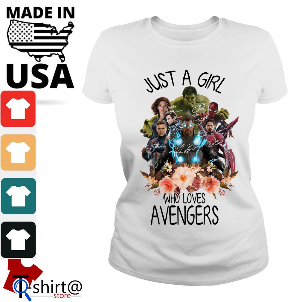 Just A Girl Who Loves Avengers Ladies tee