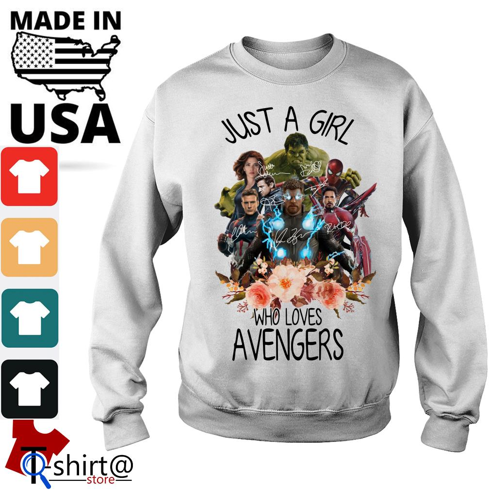 Just A Girl Who Loves Avengers Sweater