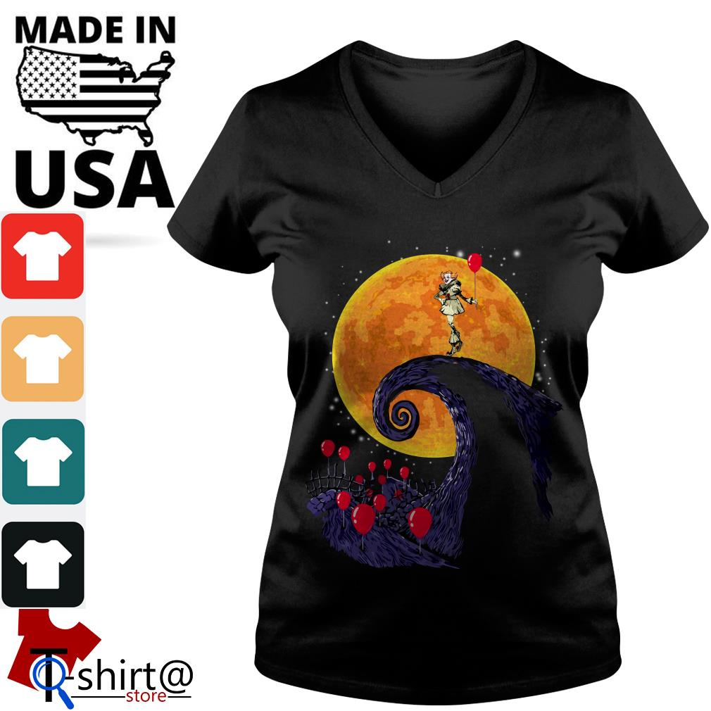 Pennywise the nightmare before christmas V-neck t-shirt