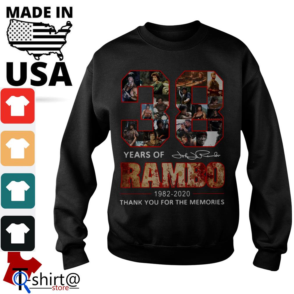 Rambo 38th Anniversary 1982-2020 Signature thank You for the Memories Sweater