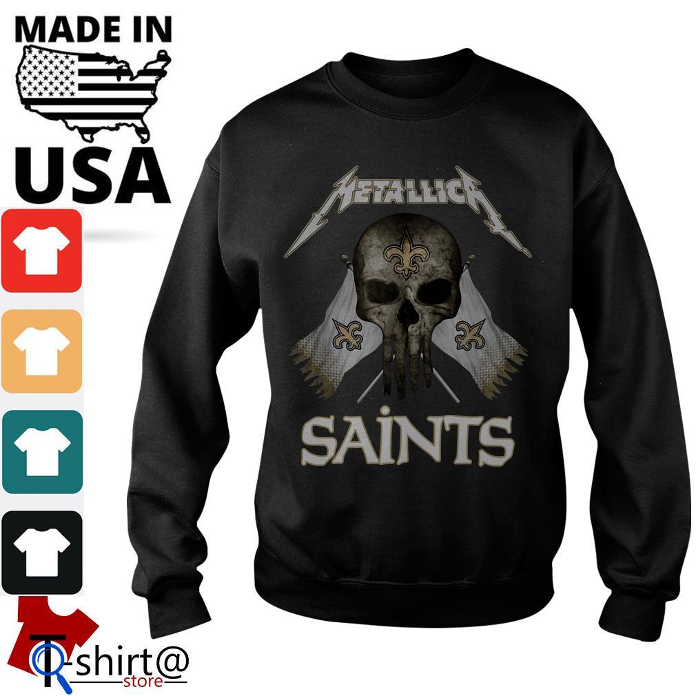 timeless design d54f5 100c0 Skull Metallica New Orleans Saints shirt, hoodie, sweater
