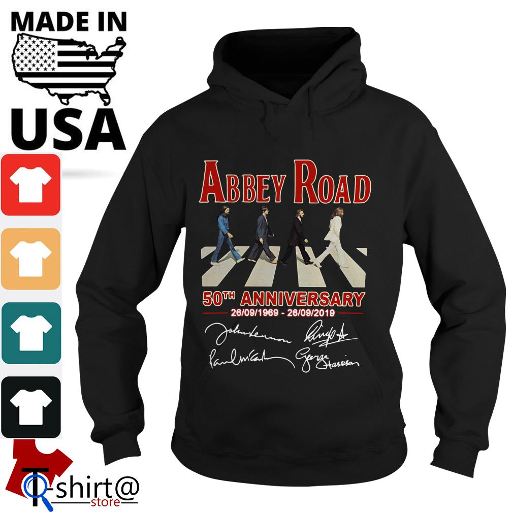 The Beatles Abbey Road 50th anniversary signatures Hoodie