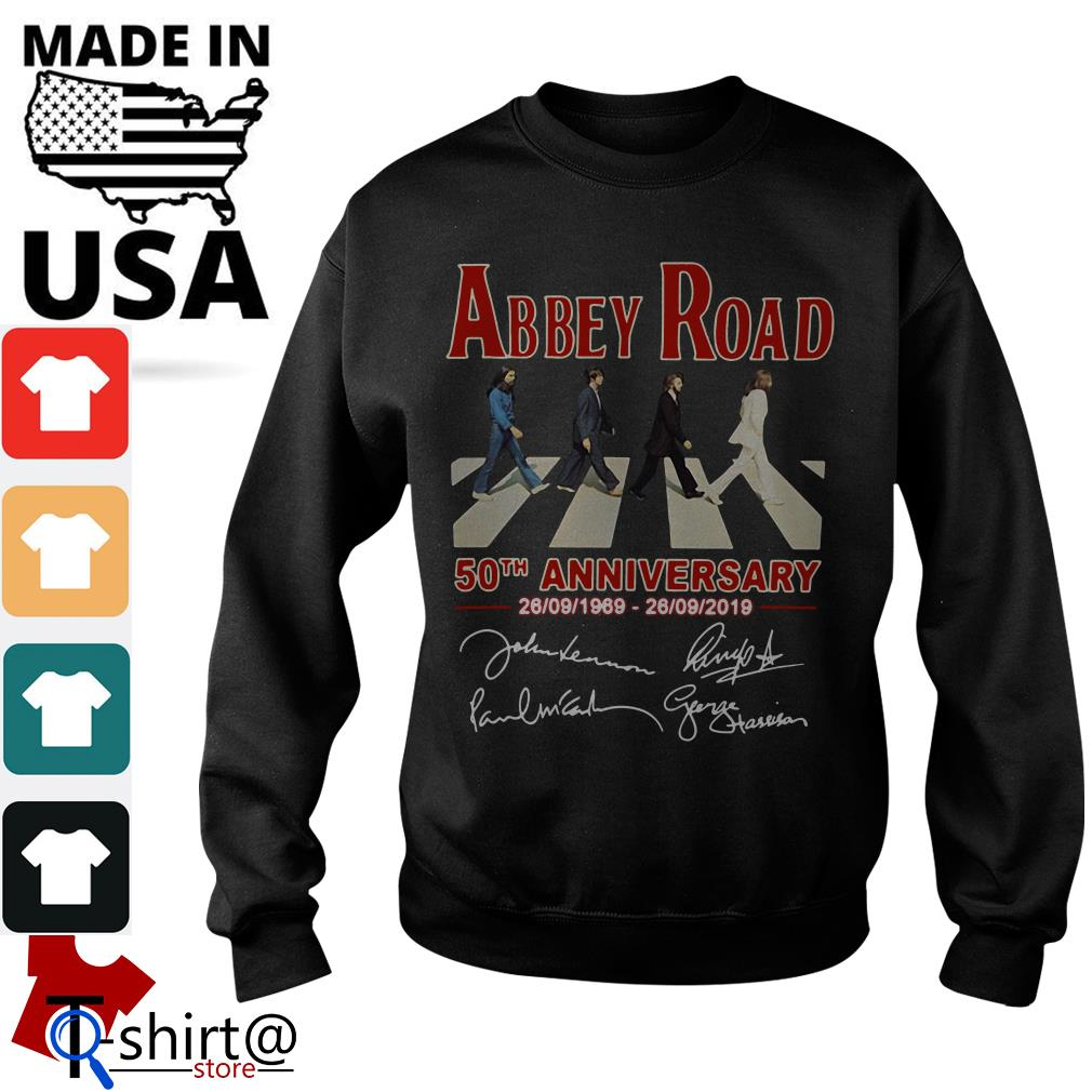 The Beatles Abbey Road 50th anniversary signatures Sweater