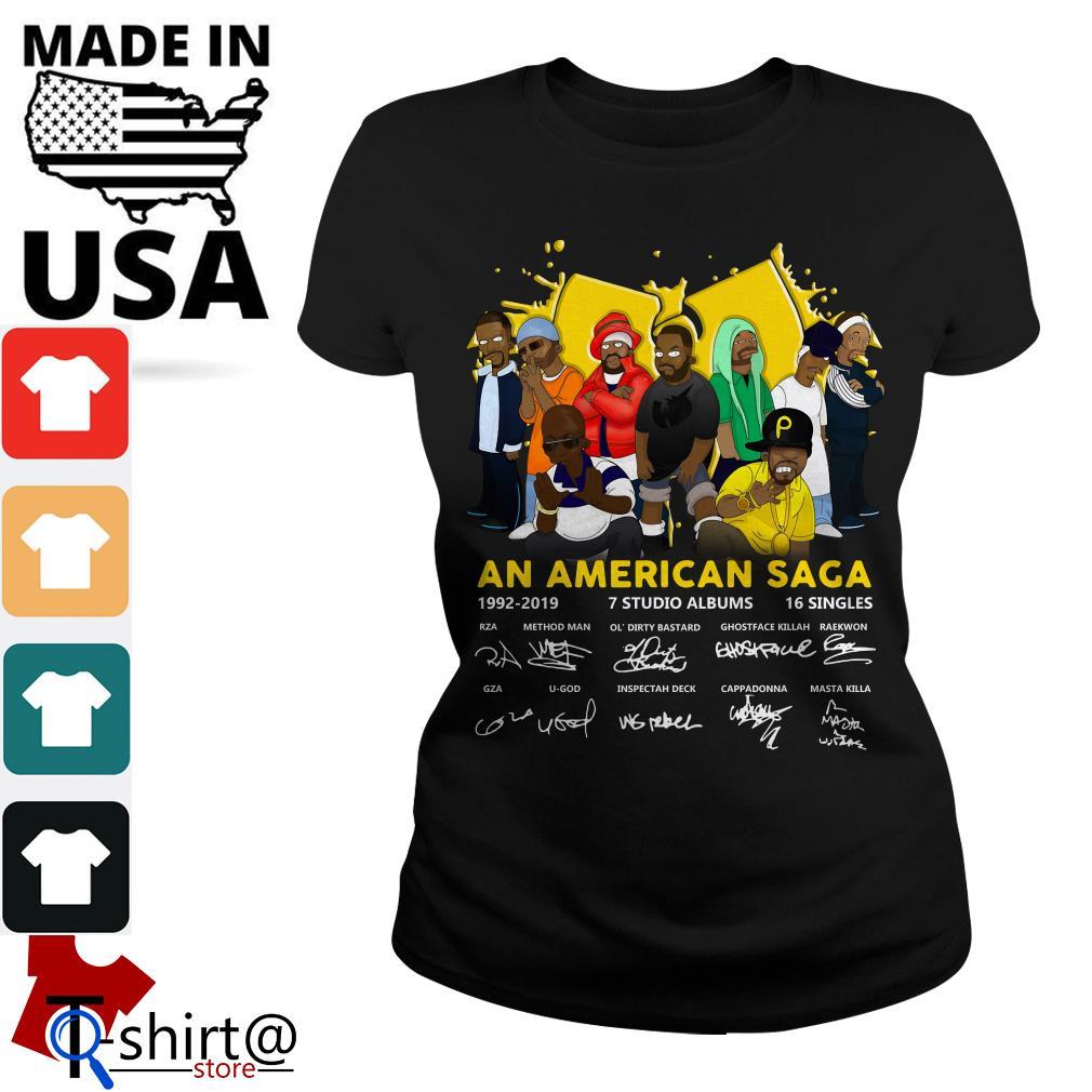 Wu Tang Clan An American Saga 1992-2019 Signatures Ladies tee