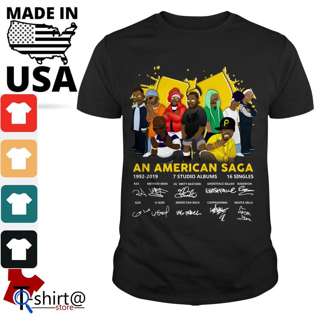 Wu Tang Clan An American Saga 1992-2019 Signatures shirt