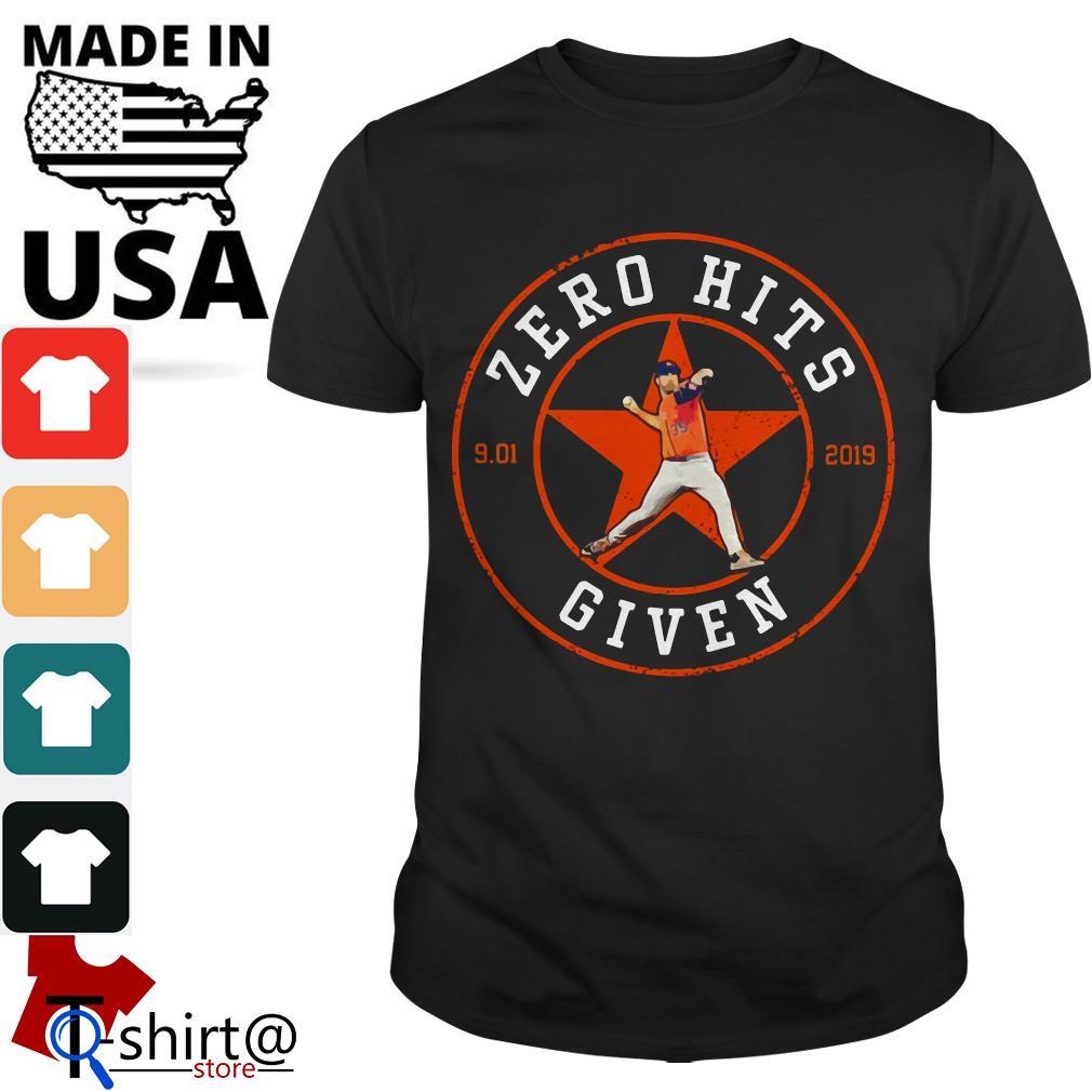 Zero Hits Given Houston Astros shirt