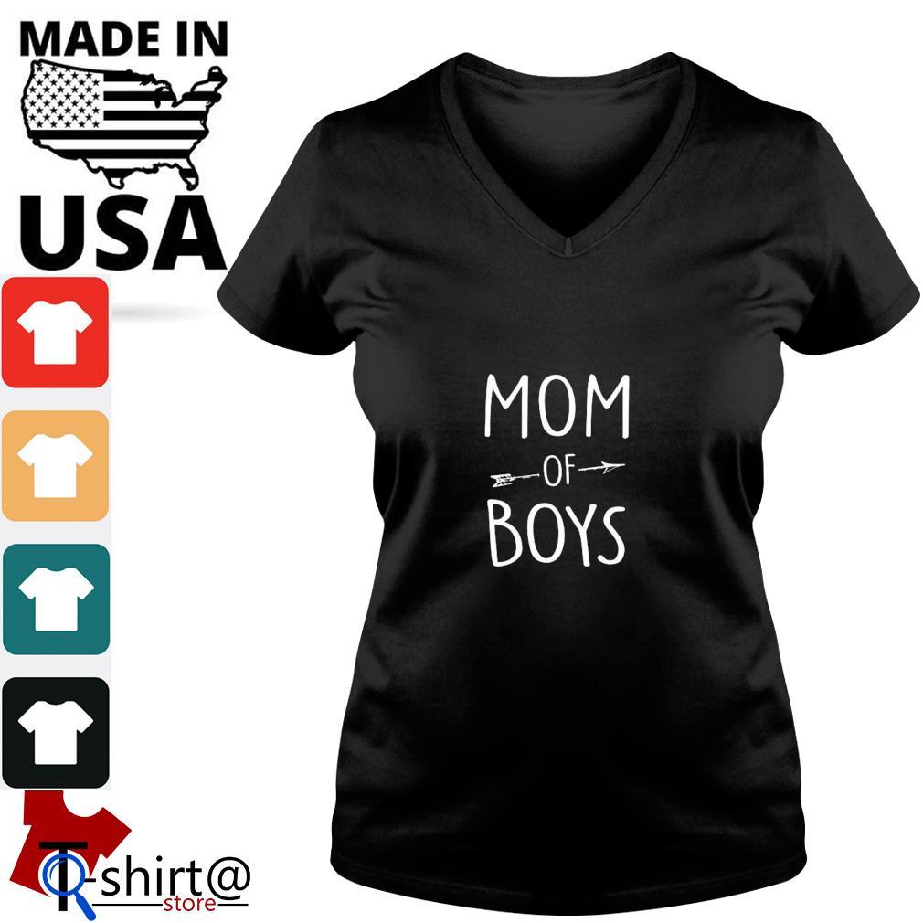 Mom of boys s v-neck-t-shirt