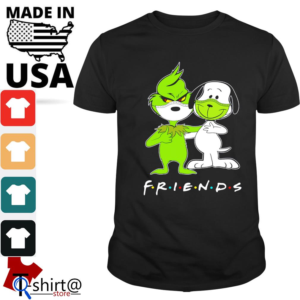 The grinch snoopy mask friends shirt