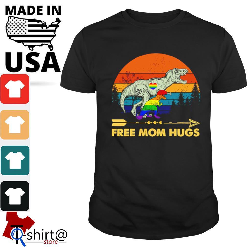 Tyrannosaurus free mom hugs LGBT shirt