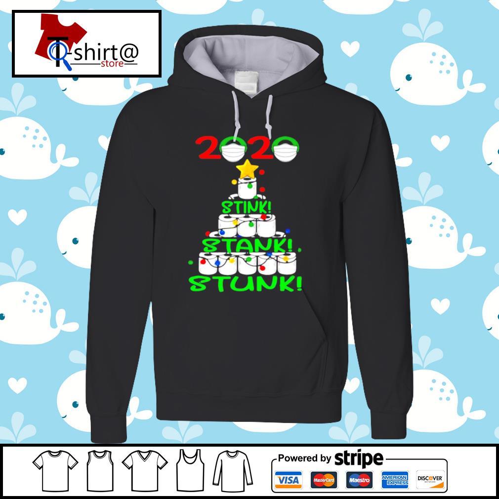 2020 Stink Stank Stunk Funny Quarantine Ugly Christmas Tree s hoodie