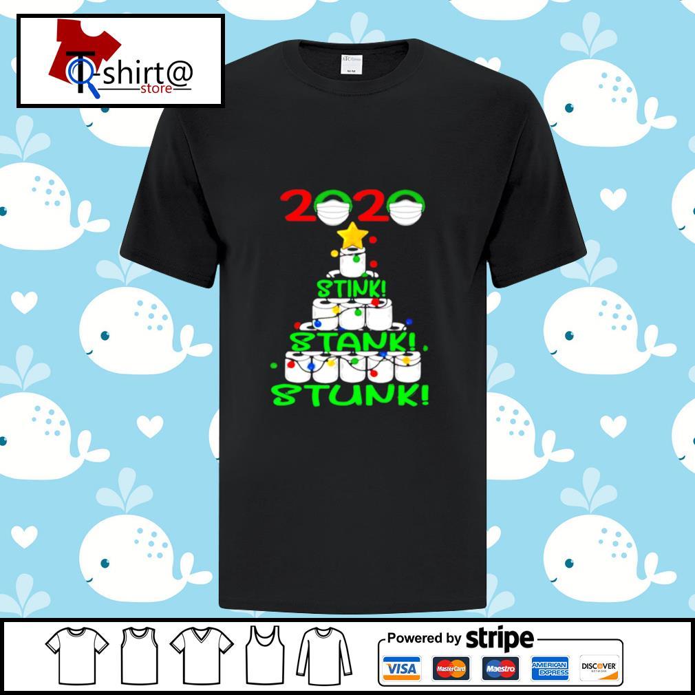 2020 Stink Stank Stunk Funny Quarantine Ugly Christmas Tree shirt