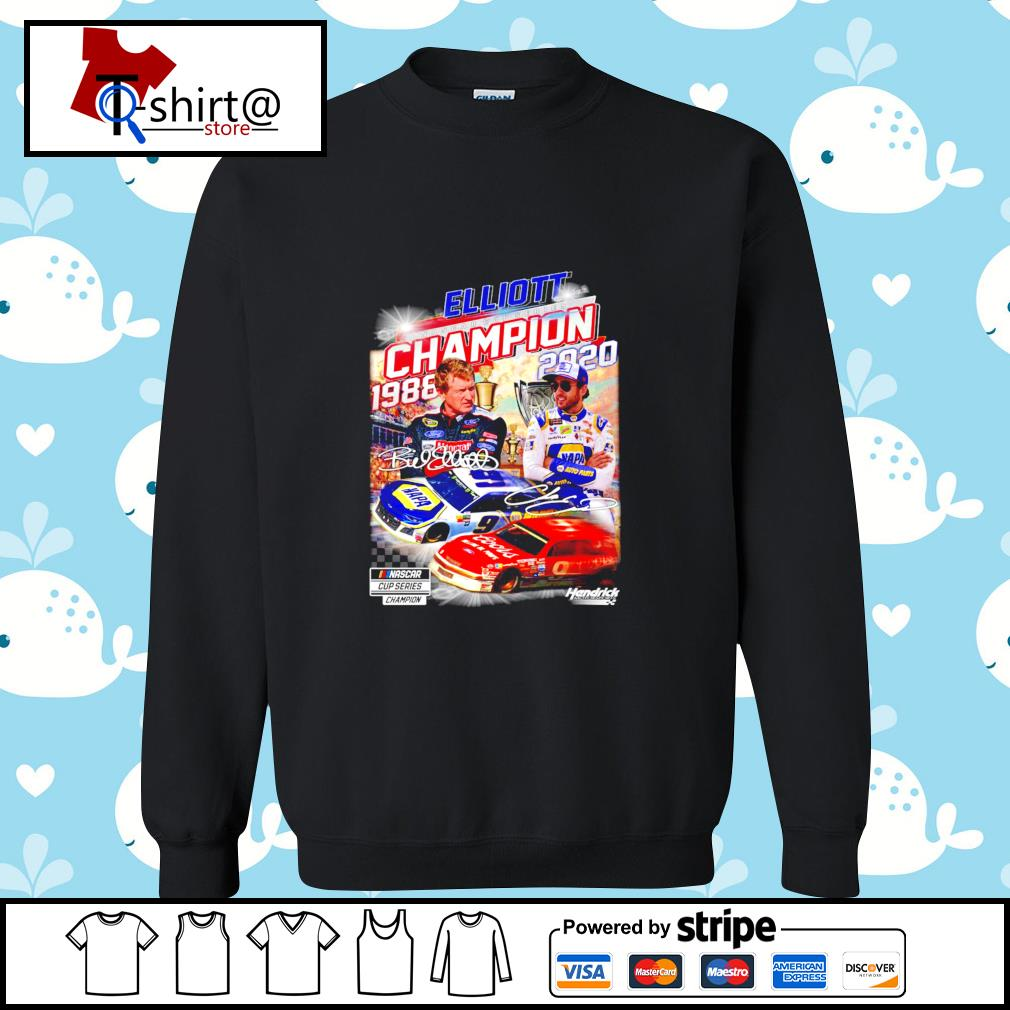 Elliott Nascar cup series champion 1988-2020 signature s sweater