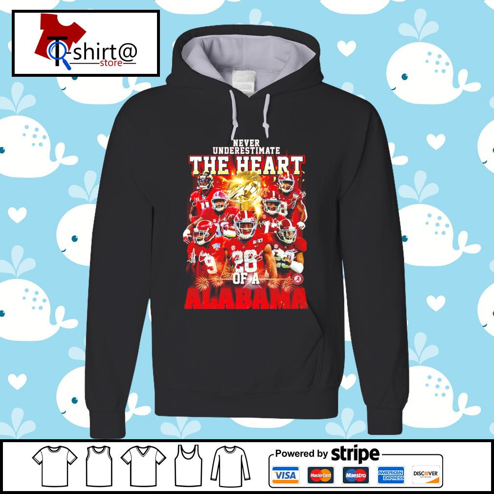 Never Underestimate the heart of a Alabama signature s hoodie