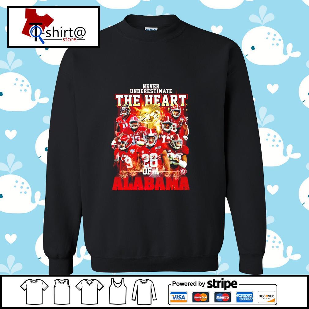 Never Underestimate the heart of a Alabama signature s sweater