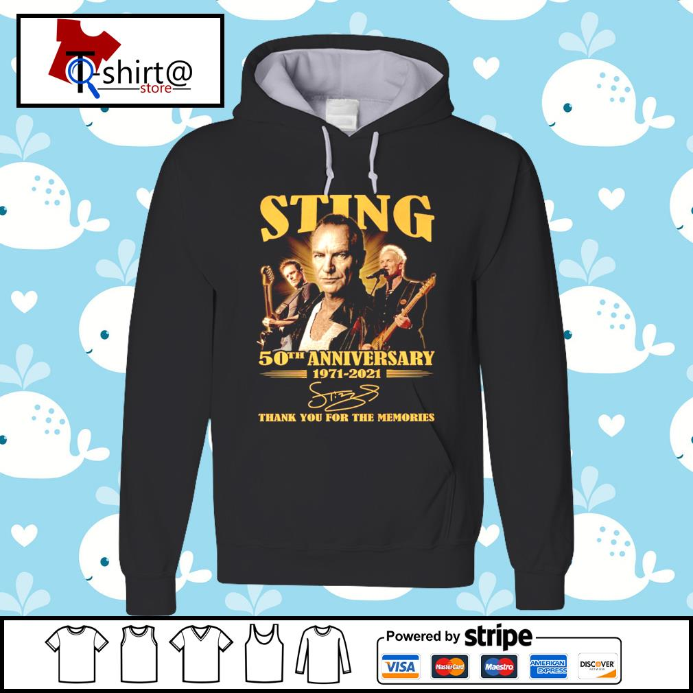 Sting 50Th anniversary 1971-2021 signature thank you for the memories s hoodie
