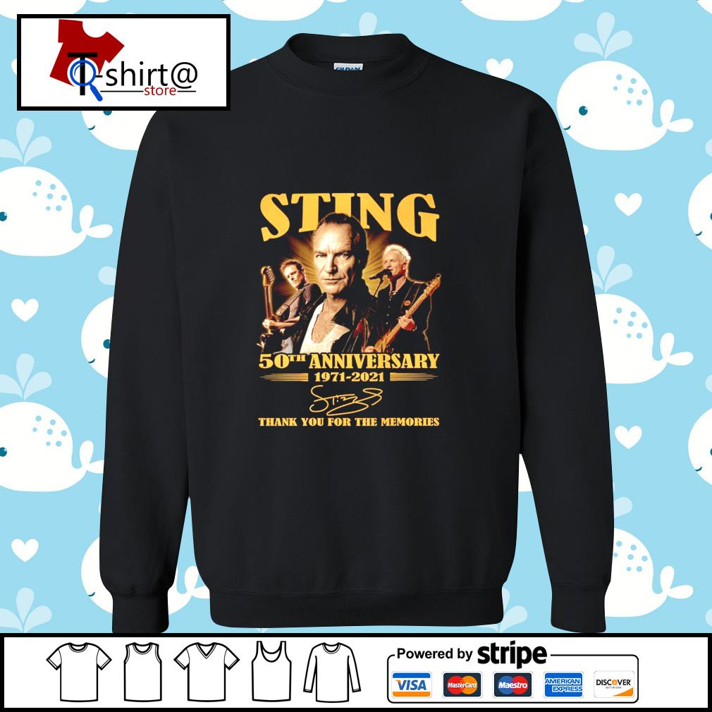 Sting 50Th anniversary 1971-2021 signature thank you for the memories s sweater