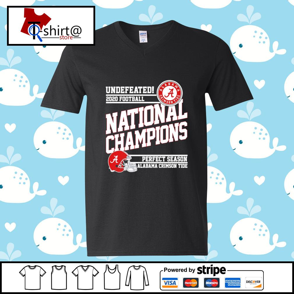 Undefeated 2020 football Alabama Crimson Tide national champions perfect season s v-neck-t-shirt