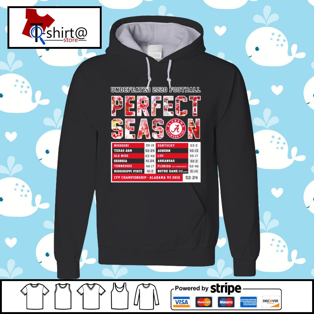 Undefeated 2020 Football Perfect Season CFP Championship Alabama 52 24 Ohio s hoodie