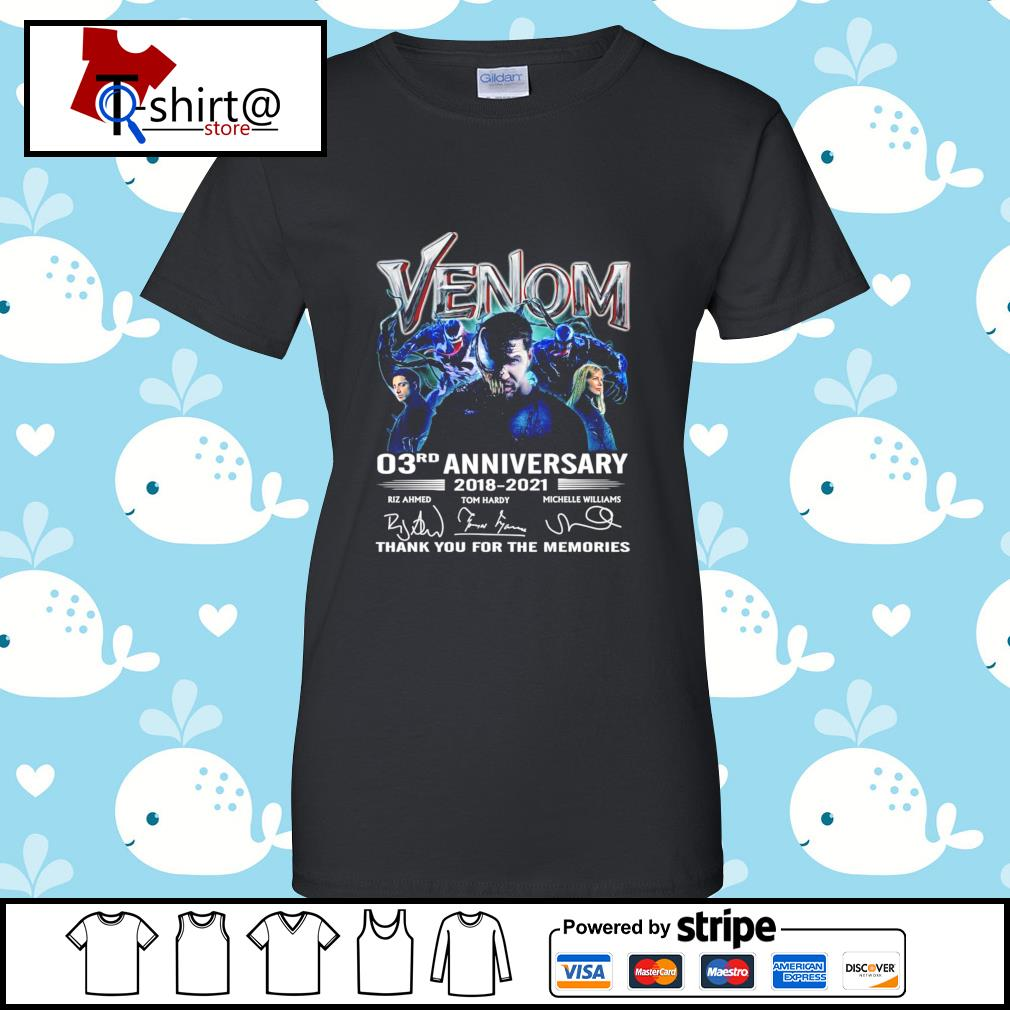 Venom 03Rd anniversary 2018-2021 signature thank you for the memories s ladies tee
