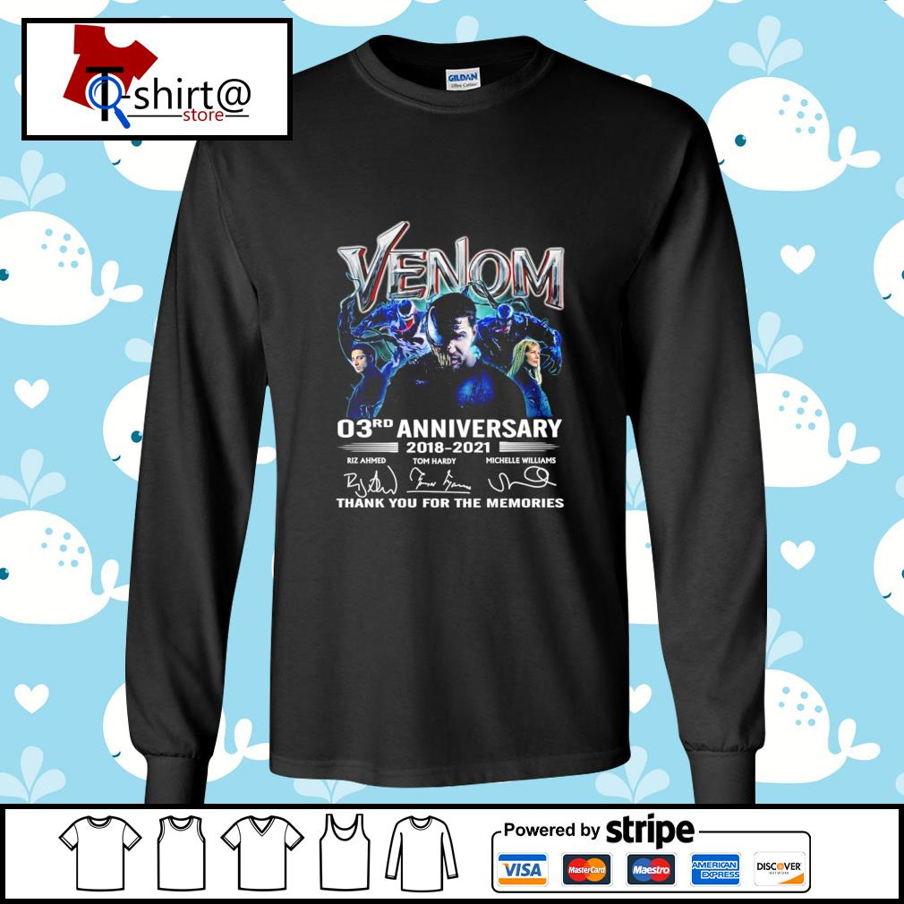 Venom 03Rd anniversary 2018-2021 signature thank you for the memories s longsleeve-tee