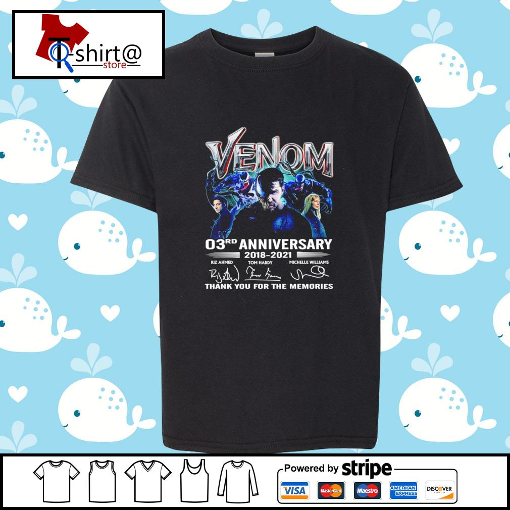 Venom 03Rd anniversary 2018-2021 signature thank you for the memories s youth-tee
