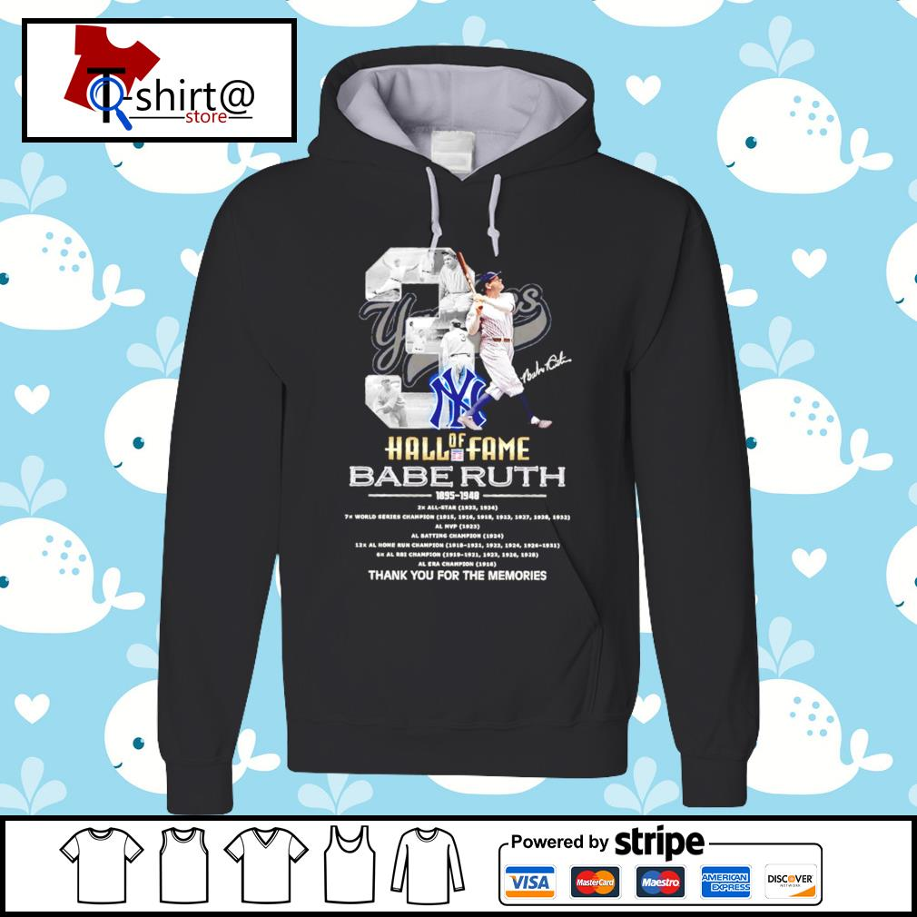 03 Hall of Fame Babe Ruth 1895 1948 signature s hoodie
