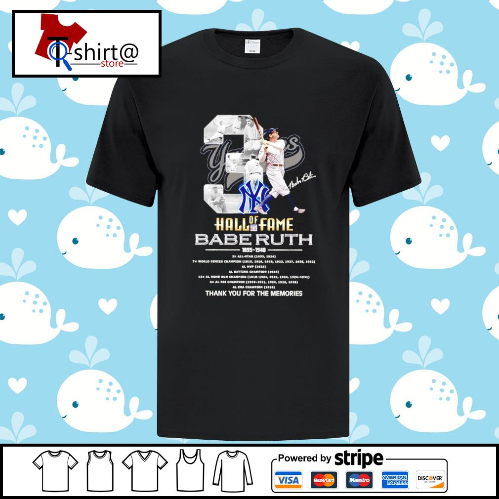 03 Hall of Fame Babe Ruth 1895 1948 signature shirt